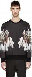 Neoprene Sliced Hercules Sweatshirt by Neil Barrett at Ssence