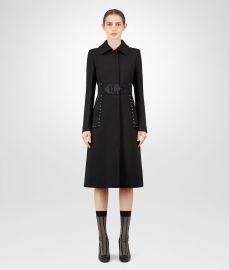 Nero Wool Coat by Bottega Veneta at Bottega Veneta