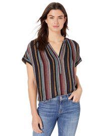Nessa Lurex Stripe Blouse by Velvet by Graham & Spencer at Amazon