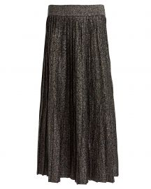 Nevada Metallic Pleated Skirt at Intermix
