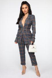 Never Played Out Plaid Suit Set by Fashion Nova at Fashion Nova