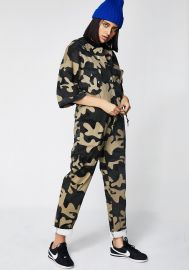 Never Unseen Camo Jumpsuit at Dolls Kill