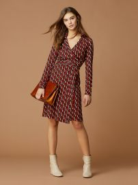 New Jeanne Two Silk Jersey Wrap Dress at DvF