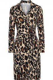 New Jeanne Two printed silk-jersey wrap dress at The Outnet
