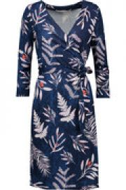 New Julian Two printed silk-jersey wrap dress at The Outnet