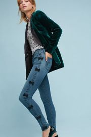 Newton Mid-Rise Skinny Cropped Jeans by McGuire at Anthropologie