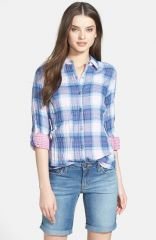 Nexx Double Face Plaid Cotton Shirt at Nordstrom