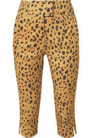 Nicholas - Cropped leopard-print Tencel-blend slim-leg pants at Net A Porter