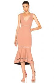 Nicholas Bandage Plunge Midi Dress at Forward