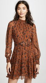 Nicholas High Neck Button Mini Dress at Shopbop