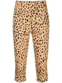 Nicholas Leopard Print Cropped Trousers - Farfetch at Farfetch