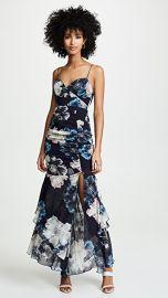 Nicholas Navy Floral Drawstring Layered Dress at Shopbop