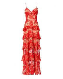 Nicholas Rosie Lace Tiered Gown - INTERMIX at Intermix
