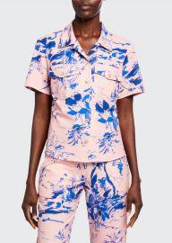 Nico Floral-Print Crepe Short-Sleeve Shirt at Bergdorf Goodman