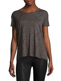 Nicola Distressed Leopard Print Tee by RtA at Saks Off Fifth