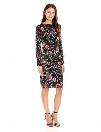 Nicole Miller  Christina Almond Blossom LS Tuck Dress at Amazon