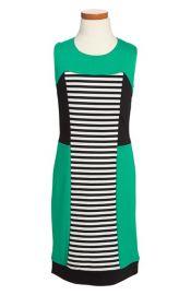 Nicole Miller Stripe Colorblock Dress at Nordstrom