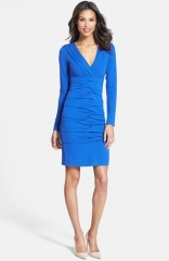 Nicole Miller Tuck Detail Jersey Dress at Nordstrom