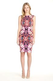 Nicole Miller and39Lauren Water Lilyand39 Cotton Blend Body-Con Dress at Nordstrom