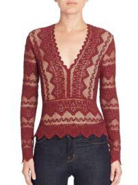Nightcap Clothing - Sierra Deep V-Neck Top at Saks Fifth Avenue