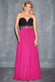 Nightmoves by Allure Sweetheart Chiffon Gown at Misses Dressy