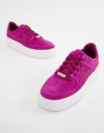 Nike Air Force 1 Sage Low sneakers in berry   ASOS at Asos