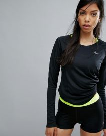 Nike Running Dry Miler Long Sleeve Top   ASOS at Asos
