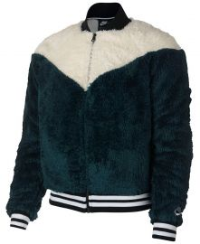 Nike Sportswear Fleece Bomber Jacket   Reviews - Jackets   Blazers - Women - Macy s at Macys