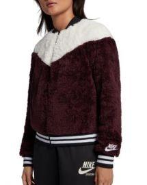 Nike Color-Block Fleece Bomber Jacket  Women - Bloomingdale s at Bloomingdales