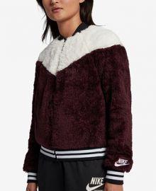 Nike Sportswear Fleece Bomber Jacket   Reviews - Jackets   Blazers - Women - Macy s at Macys