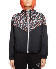 Nike Women s Sportswear Heritage Floral-Print Windbreaker   Reviews - Women - Macy s at Macys