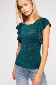 Nikita Ruffle Sleeve Top at Free People