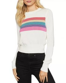 Nikki Rainbow-Stripe Sweater at Bloomingdales