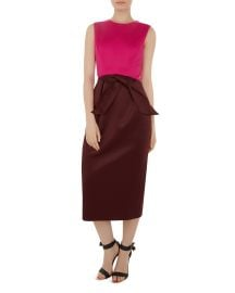 Nikkita Color-Block Midi Dress at Bloomingdales