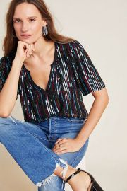 Nikky Sequined Blouse at Anthropologie