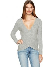 Nikolai Cross Front Wrap Sweater by Cupcakes and Cashmere at Amazon