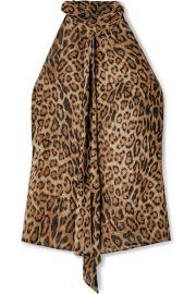 Nili Lotan - Alameda leopard-print silk-chiffon blouse at Net A Porter