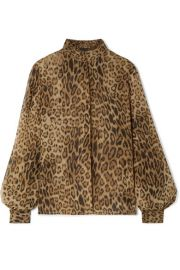 Nili Lotan - Evelyn leopard-print silk-chiffon blouse at Net A Porter