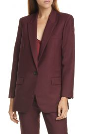 Nili Lotan Diane Stretch Wool Blazer at Nordstrom