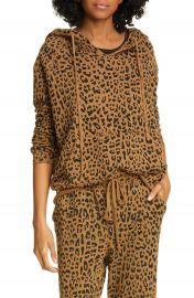 Nili Lotan Janie Leopard Print Hoodie   Nordstrom at Nordstrom
