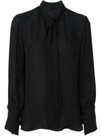 Nili Lotan Pussy Bow Neck Blouse - at Farfetch