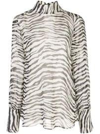 Nili Lotan Zebra Print long-sleeve Top - Farfetch at Farfetch