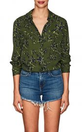 Nina Floral Silk Blouse at Barneys