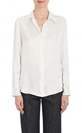 Nina Lip-Print Silk Blouse by LAgence at Barneys