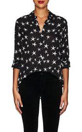 Nina Star-Print Silk Blouse at Barneys