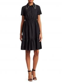 No  21 - Embellished Collar Poplin Dress at Saks Fifth Avenue