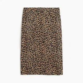 No. 2 Pencil® skirt in leopard bi-stretch cotton at J. Crew