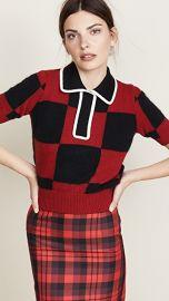 No  21 Collared Check Sweater at Shopbop