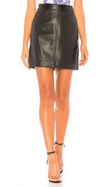 Nobody Denim Cleanline Leather Skirt in Black Leather from Revolve com at Revolve