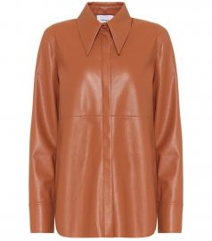 Noelle faux-leather shirt at Mytheresa
